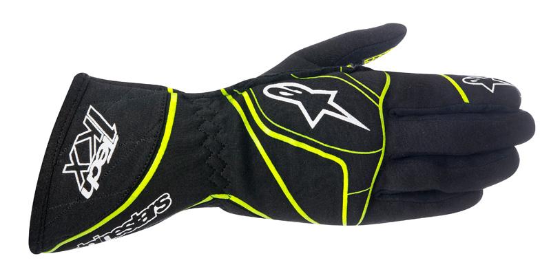 Alpinestars Tech 1-KX Gloves Black Yellow Fluo