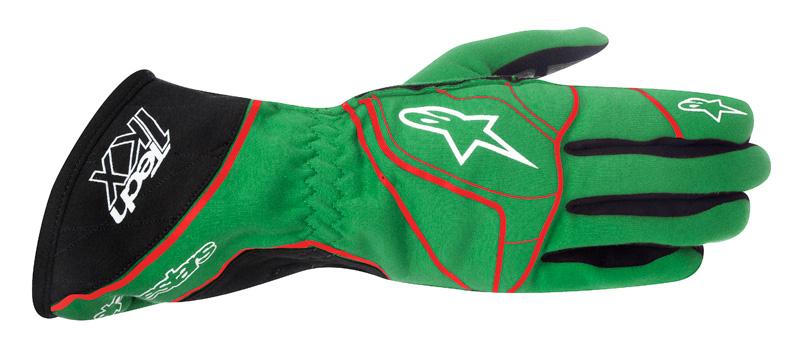 Alpinestars Tech 1-KX Gloves Green Red White