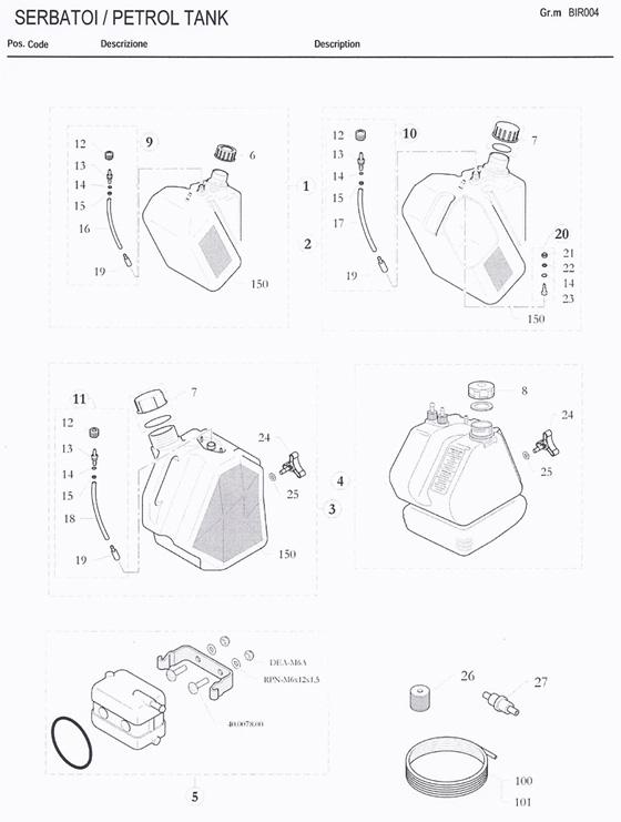 23 20 0953 14 Birel One Way Fitting For Fuel Tank Birel Fuel