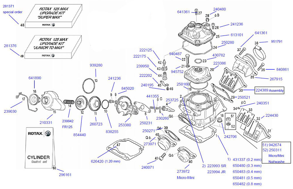 35 267915 Rotax Carburetor Flange Rotax Cylinder and Head – Rotax Engine Parts Diagram