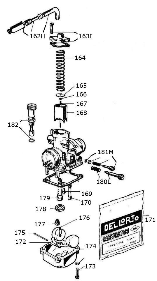 pocket bike carb parts