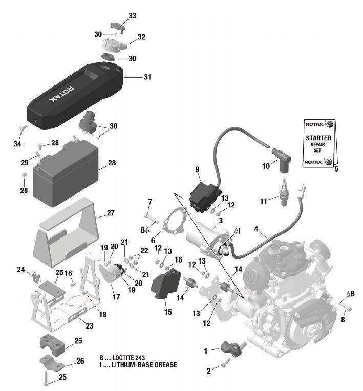 15  666814 EVO Electronic Box :: Rotax EVO Parts :: Rotax