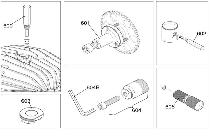 IAME KA100 Engine Pullers and Tools