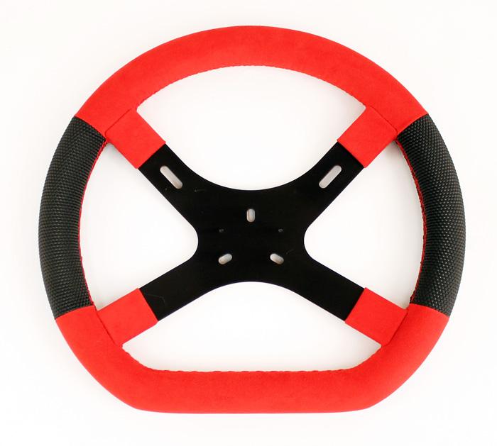 Lemans Steering Wheels Black Wheel Red