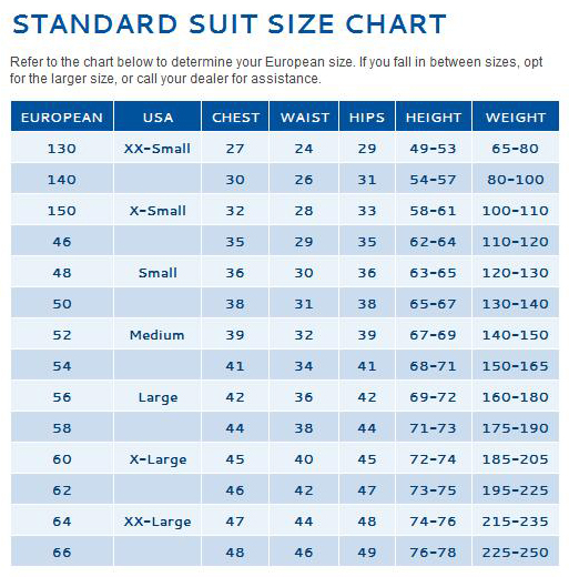 Sparco Racing Suits Size Chart Sparco Suit Size Chart