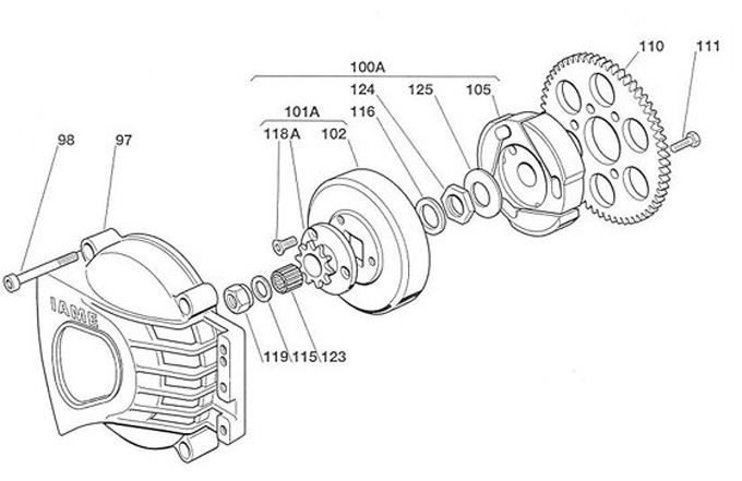 (105) IA-A-125841 Standard Friction Hub 07 Leopard