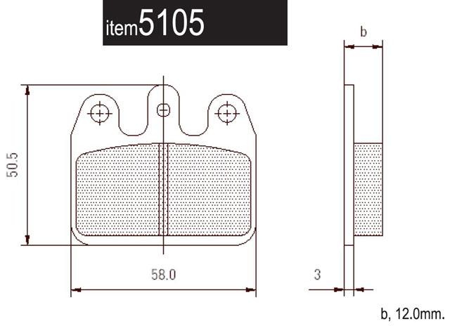 5105.SP CRG Ven05 Rear Pads for Ceramic Disc