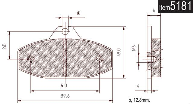 5181 SKM/Parolin Rear Brake Pads