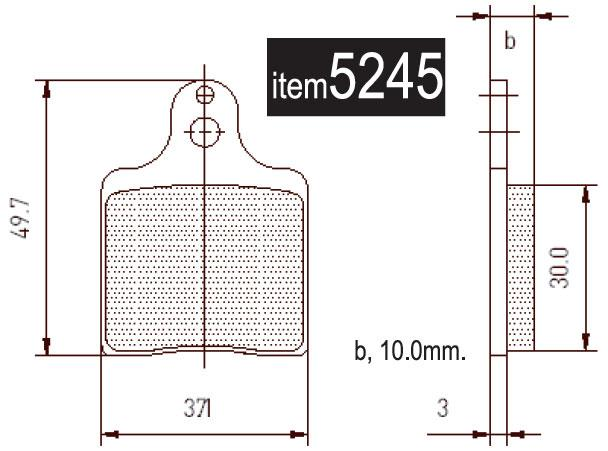 5245 Intrepid EVO3 Front Brake Pads