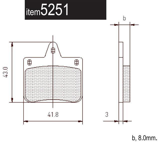 5251 CRG Ven04 Front Brake Pads