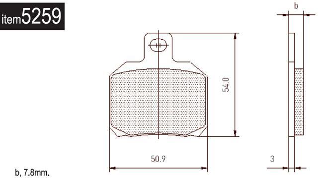 5259 Brembo Rear Brake Pads