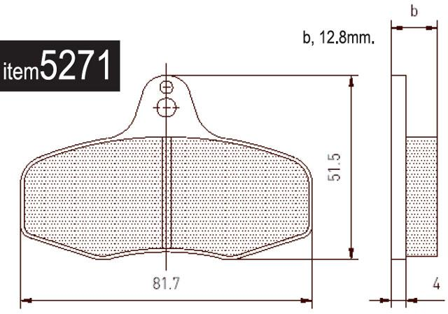 5271 Intrepid EVO3 Rear Brake Pads