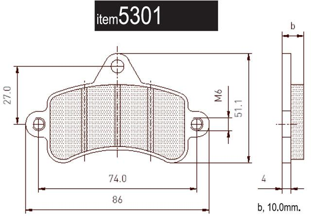 5301 Top Kart Rear Brake Pads