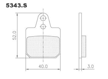 5343.S Birel 2012 Brake Pads