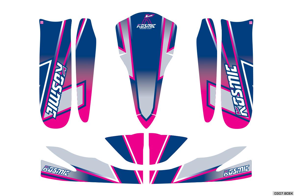 0307.BDEK Kosmic Rookie Kart Sticker Kit