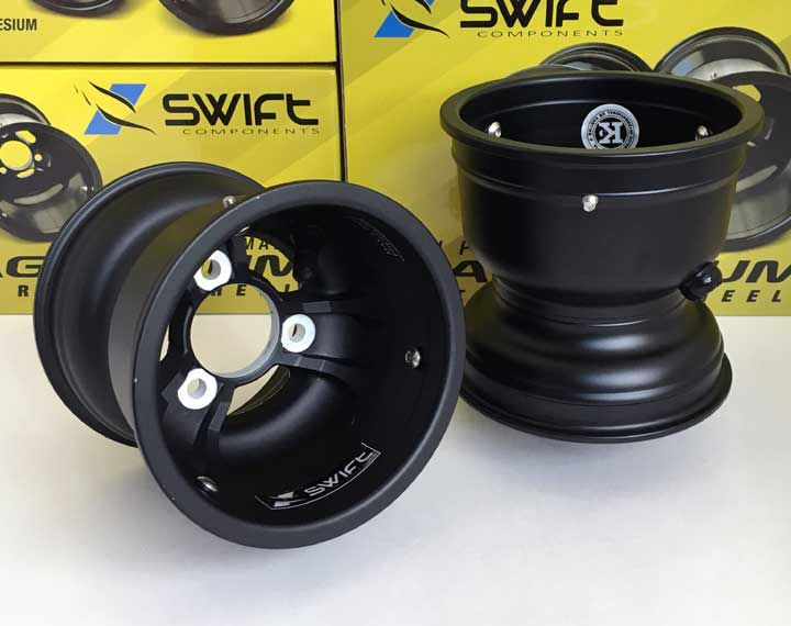 "Swift Components 130mm x 5"" Magnesium Metric Wheel, Pair"