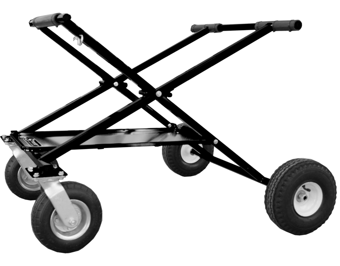 Streeter Big Foot SHORTY Kart Stand, Powder Coated Black