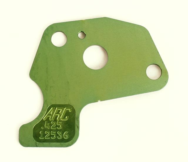 "DJ-1425 ARC Clone Restrictor Plate, Green .425"" Hole Size"