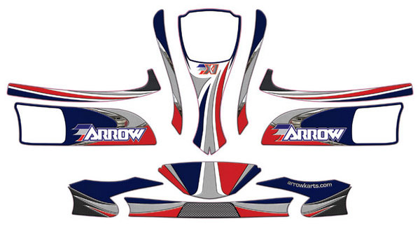 DPE-1KST02 Arrow X1MR Decal Kit for Midget Rookie Kart