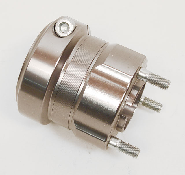"""DPE-WH50C70 Arrow Silver 50mm Wheel Hub (70mm, 2 3/4"""" Long)"""