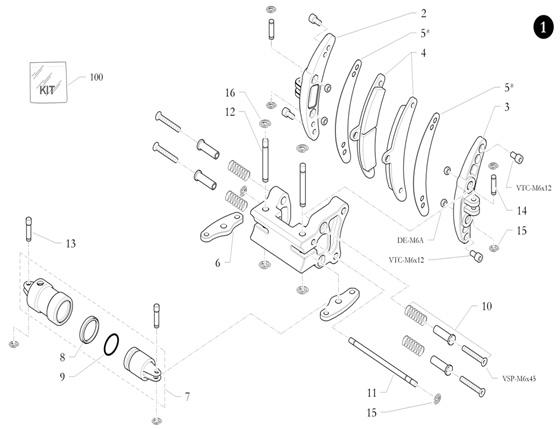 9. 40.6352.00 Birel Caliper Piston O-Ring 28-3