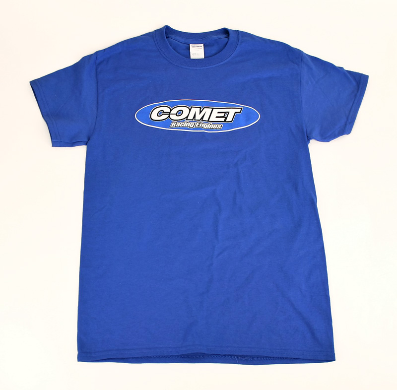 Comet Racing Engines Blue T-Shirt, Logo on Front