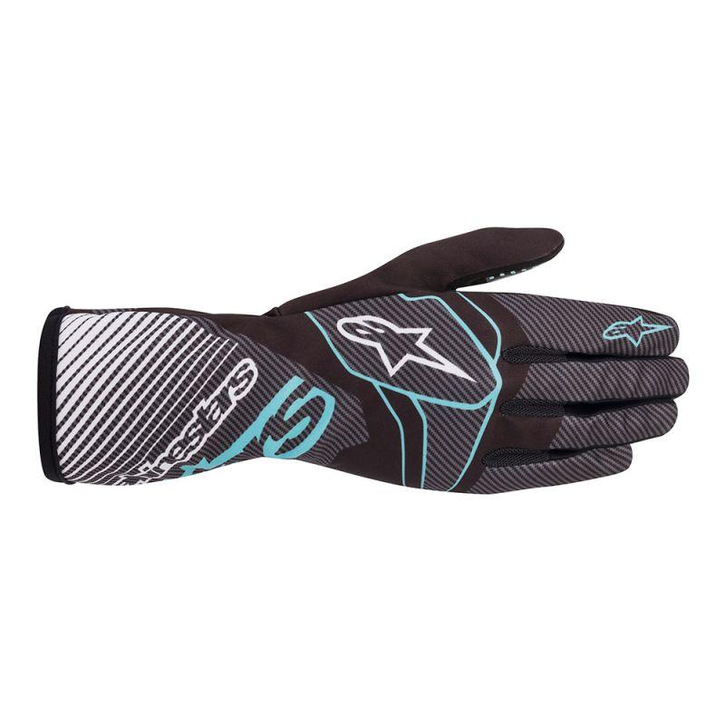 2020 Alpinestars Tech-1 K Race S V2 Youth Gloves Black/Turquoise