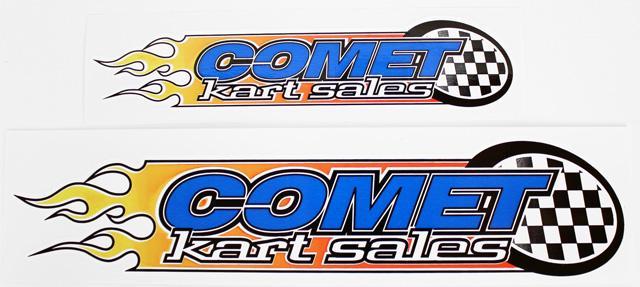 Comet Flame Logo Sticker