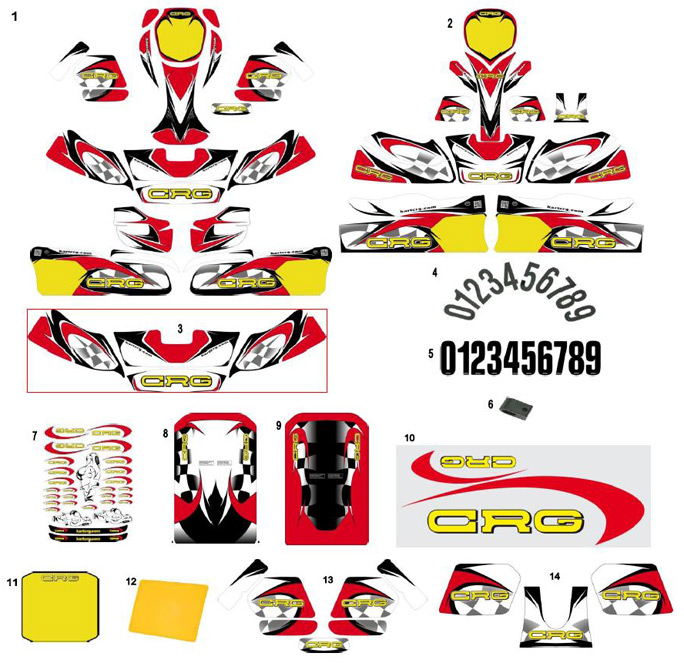 1. AFS.02912 CRG Adult Sticker Kit, Complete