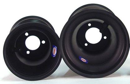 "746-029 Douglas Q+ Black 1-Piece Wheel 8 1/4""x6"""