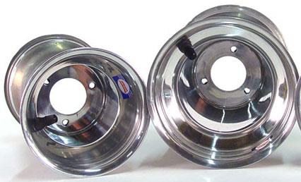 """705-10 Douglas Polished 1-Piece Wheel 5 1/8""""X5"""""""