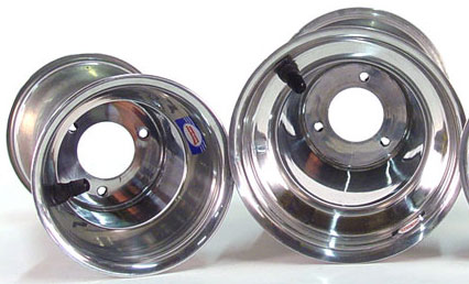 """706-04 Douglas Polished 1-Piece Wheel 5""""X6"""""""