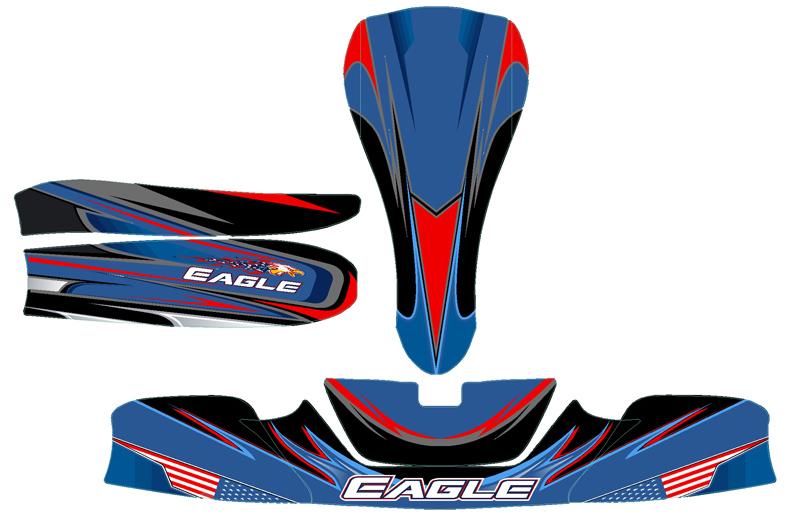 Eagle Kart KG 506 CIK Bodywork Complete Sticker Kit