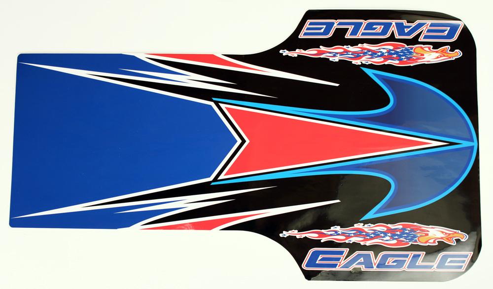 New Style Eagle Floor Tray Sticker, Black