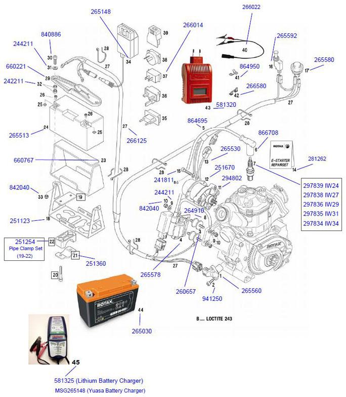 44. 265030 Rotax Lithium Battery 12v 2.3amp