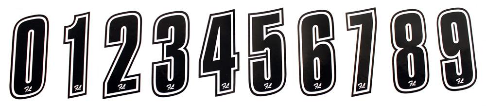 9. Birel Freeline Stick On Numbers