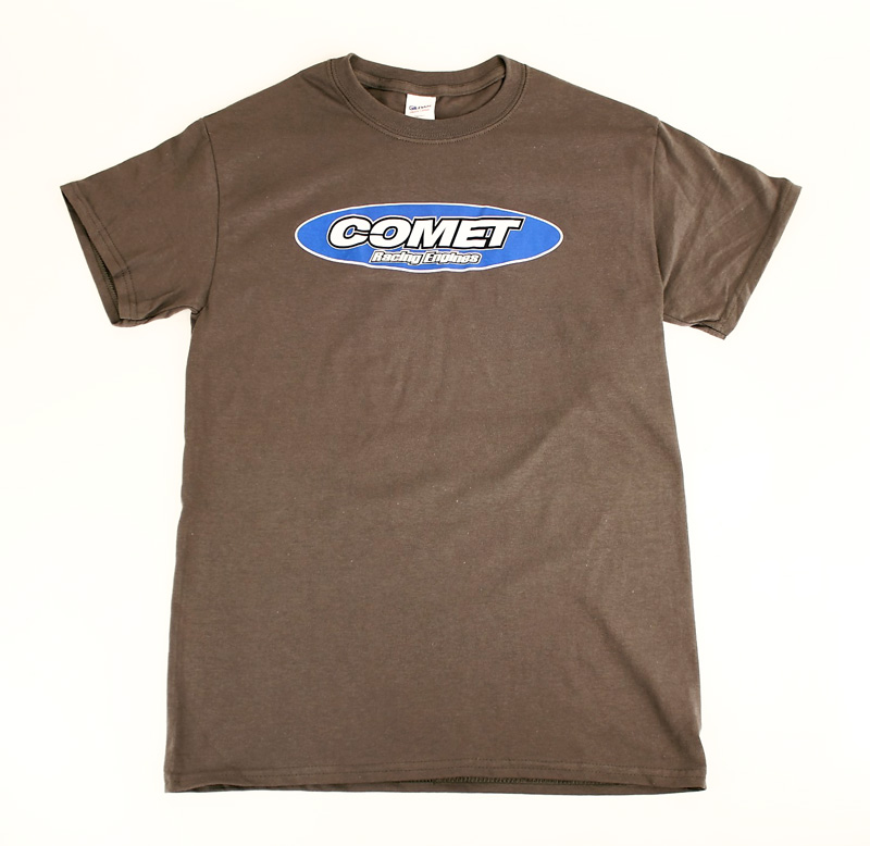 Comet Racing Engines Gray T-Shirt, Logo on Front