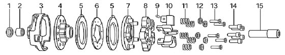 (3) 336068 HDC-5C Three Disc Clutch Drum with Sprocket