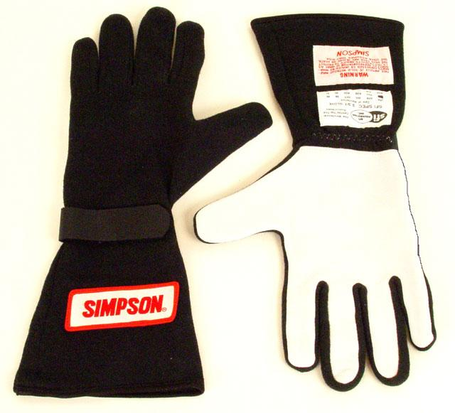 Simpson One Layer Nomex Gloves, Supergrip (Close Out)