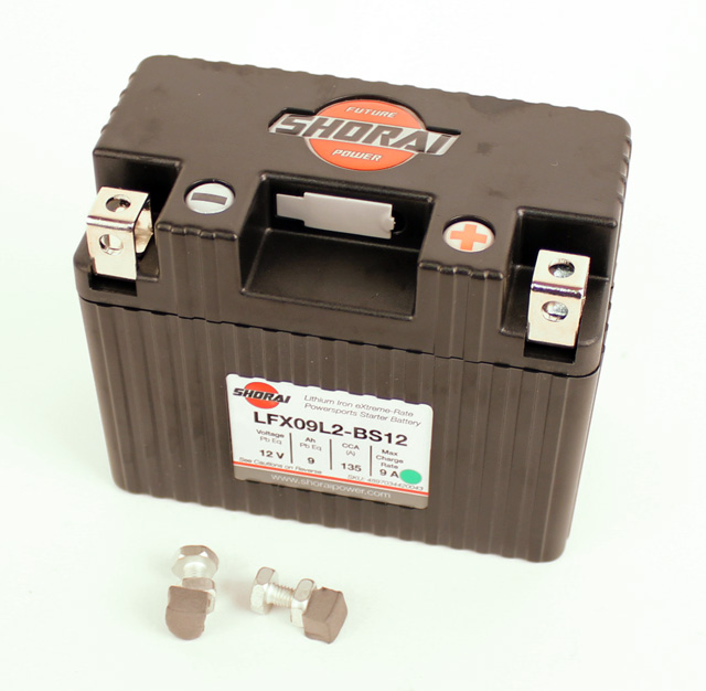 Shorai 12 volt 9 amp Lithium Ion Battery for TaG