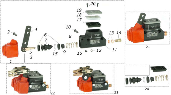 2. SBN.00200 CRG Master Cylinder Pin