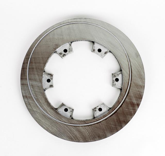 """200mm (7 7/8"""") Vented Rear Brake Disc, Swirl, Steel"""
