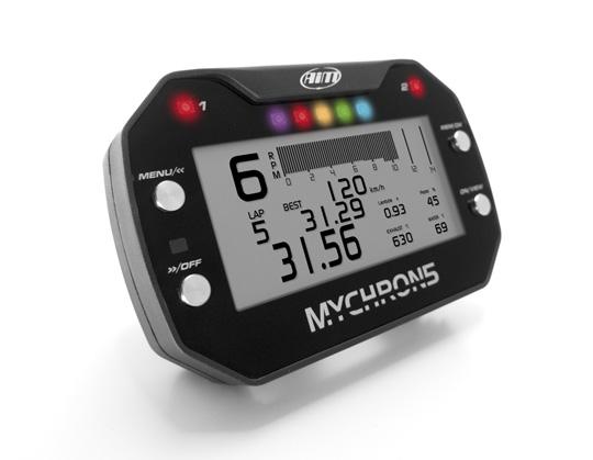 AIM Mychron 5 Kart Gauge, Single Temp with GPS