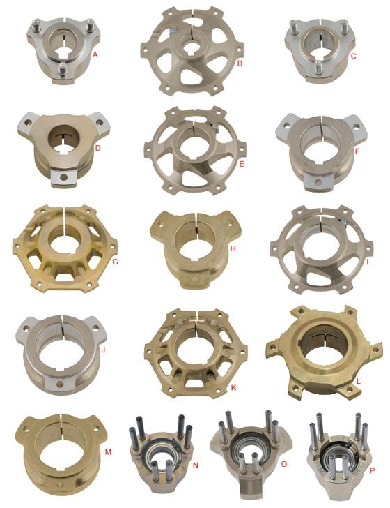 O. 0103.G0KIT Complete Aluminum BS7 Front Disc Hub