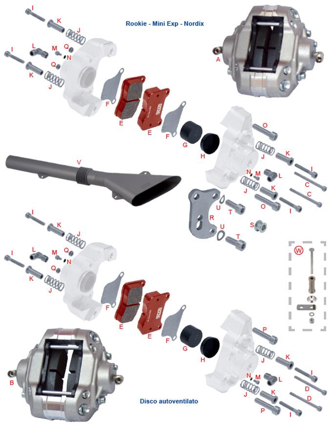 F. 0082.J3 BSM Tony Kart OTK Brake Caliper Pad Spacer, .5mm Thick Shim