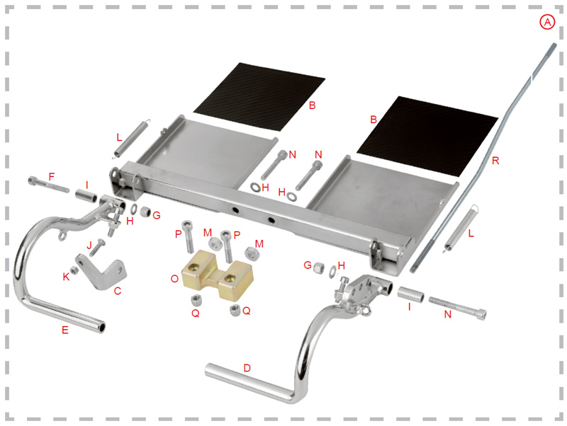 C. 0010.00E3 OTK Tony Kart Throttle Pedal Locking Plate for Rudder Kit