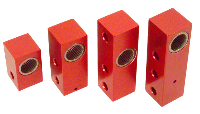 Two Hole Red Aluminum Steering Block with Needle Bearing for Top