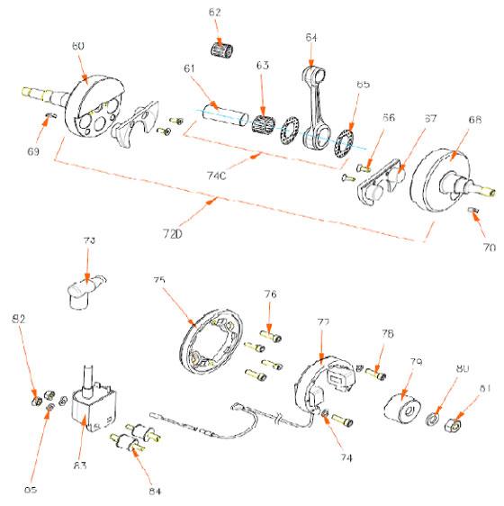 83. (410/MR) Rok TT Selettra Ignition Coil