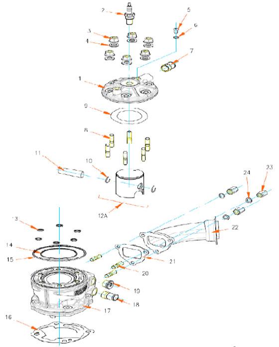 2. (003) NGK BR10EG Rok TT Spark Plug