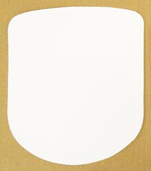 Vinyl White Stick On Driver Panel